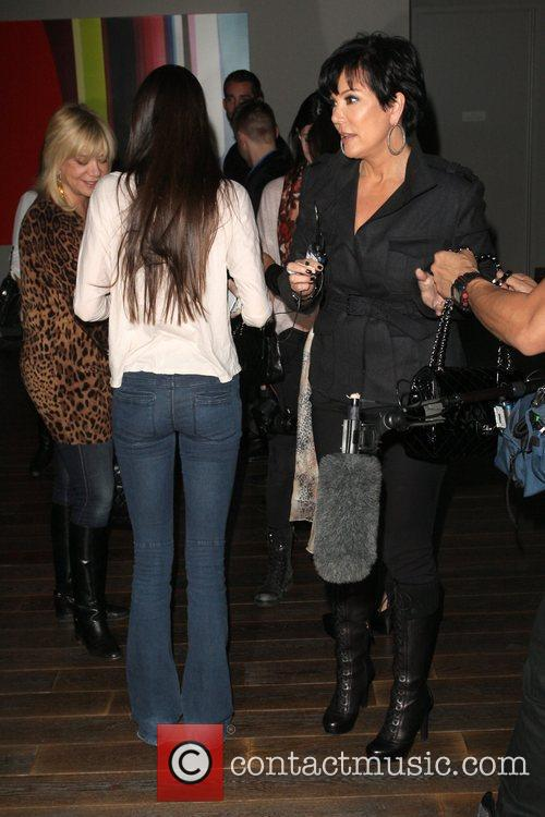 Kendall Jenner and Kris Jenner filming for 'Keeping...