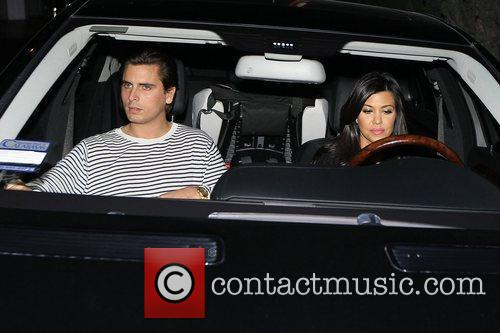 Scott Disick and Kourtney Kardashian filming for 'Keeping...