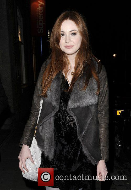 Karen Gillan leaving the Donmar Warehouse theatre after...