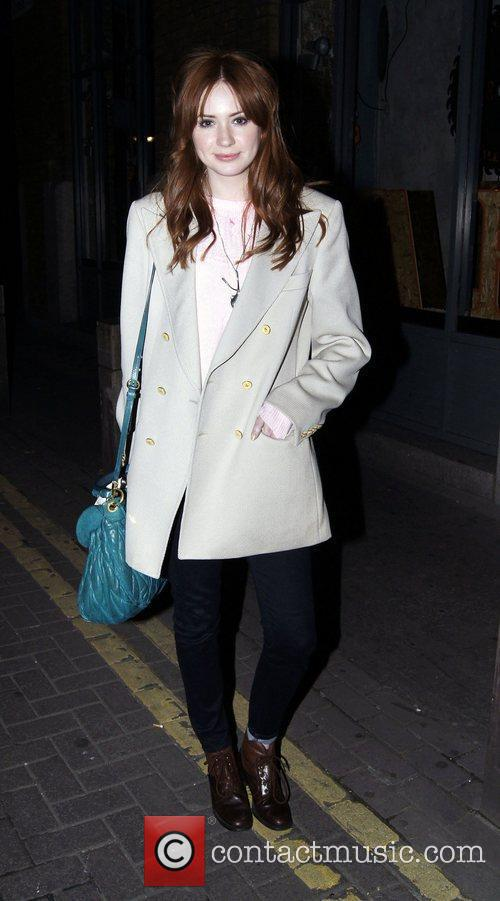 Karen Gillan out and about in Covent Garden.