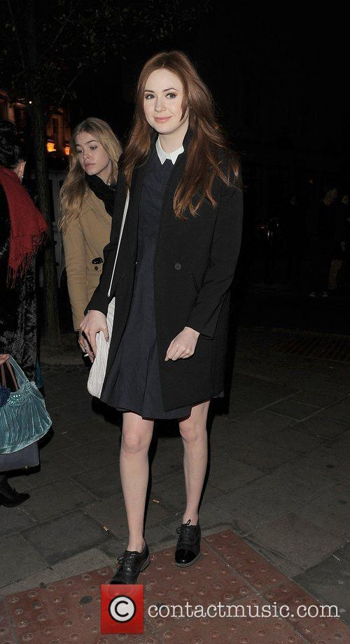 Karen Gillan leaving the Donmar Warehouse.