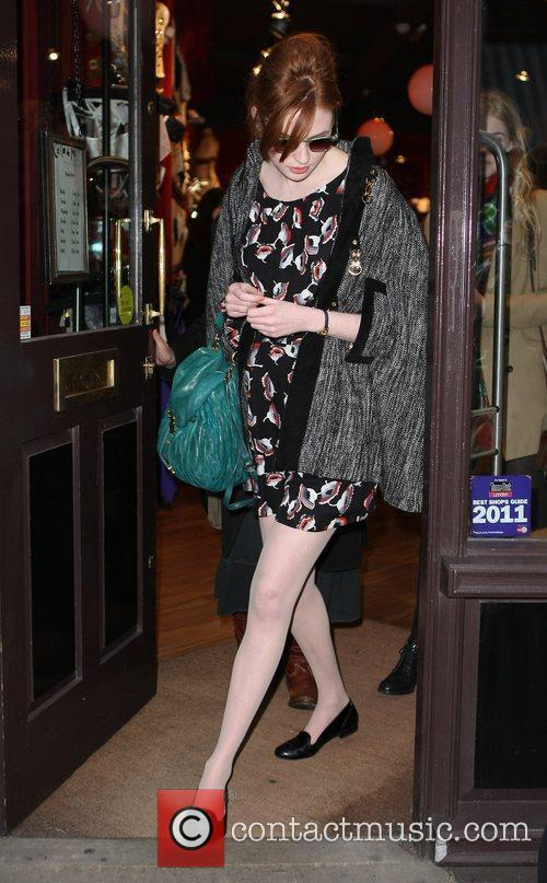 Karen Gillan out and about in Covent Garden...