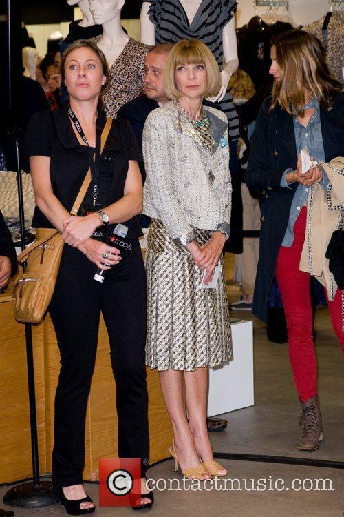 Anne Wintour Karl Lagerfeld unveils his new collection...