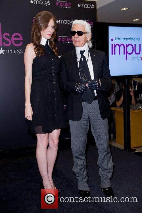 Coco Rocha and Karl Lagerfeld 2