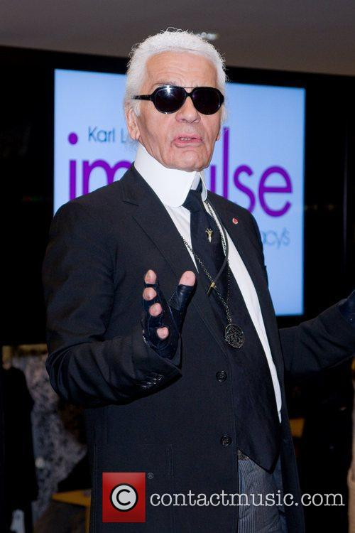 Karl Lagerfeld Karl Lagerfeld unveils his new collection...
