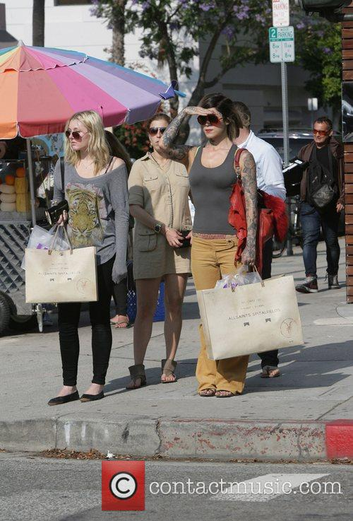 Kat Von D is seen shopping for clothes...