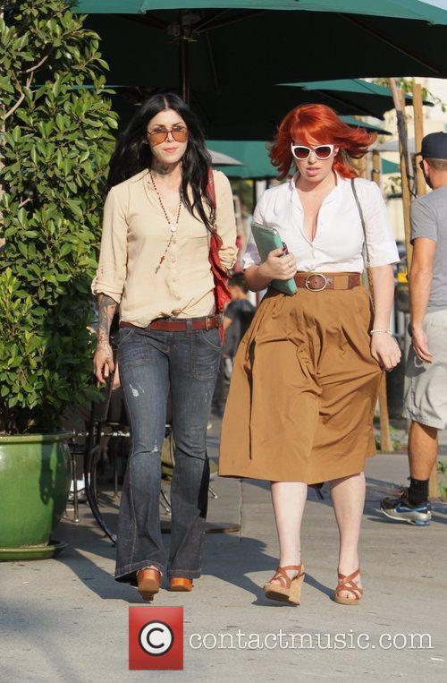Kat Von D and a friend leave Urth...
