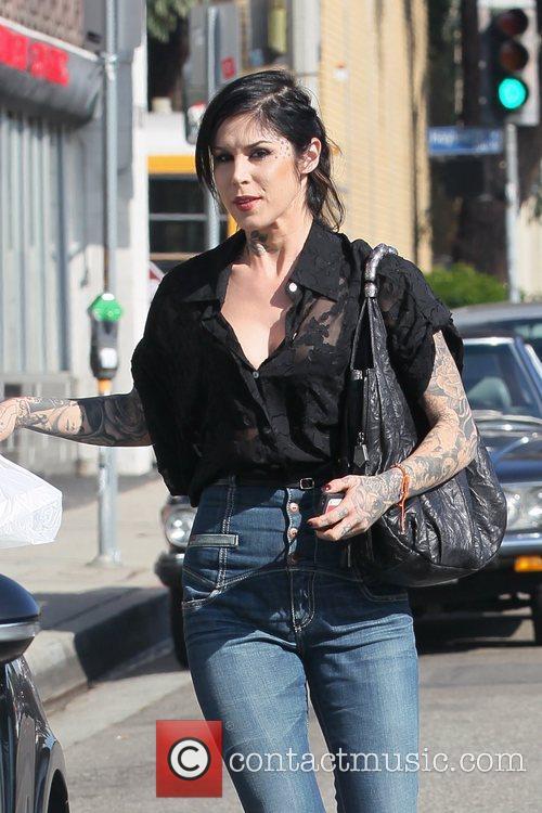 Kat Von D running errands in West Hollywood...