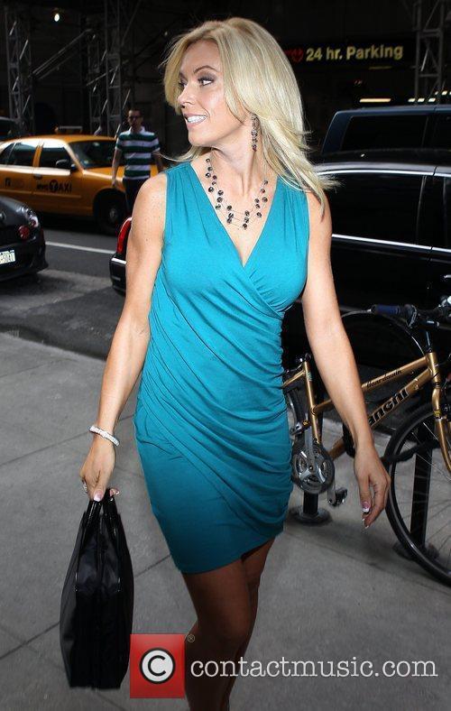 Kate Gosselin outside NBC studios for an appearance...