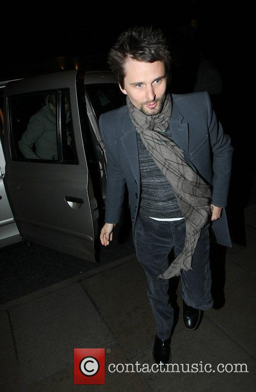 Matt Bellamy of Muse arriving back at his...