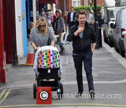 Walking in Primrose Hill with their son Bingham