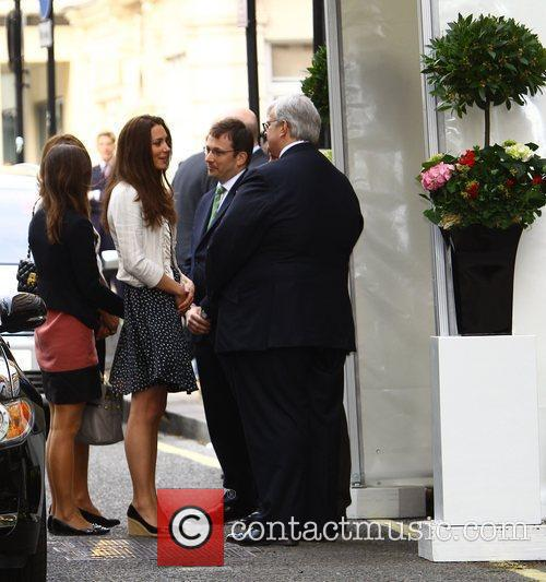 The Middleton family arriving at The Goring Hotel...