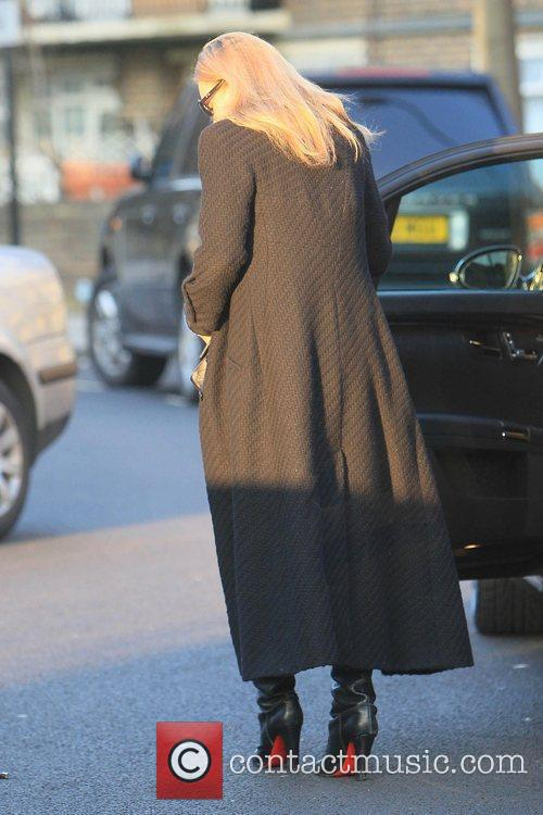 Kate Moss leaving the Woseley Restaurant in London...