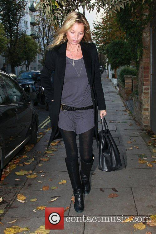 Kate Moss out and about in Notting Hill...