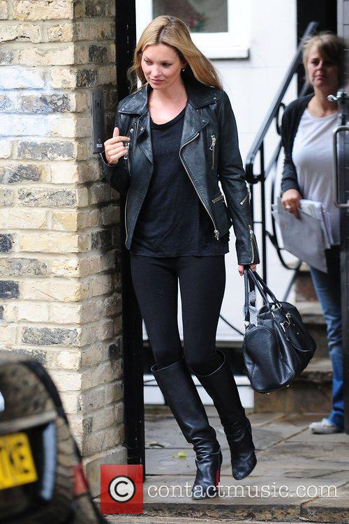 Kate Moss is seen leaving a private residence...