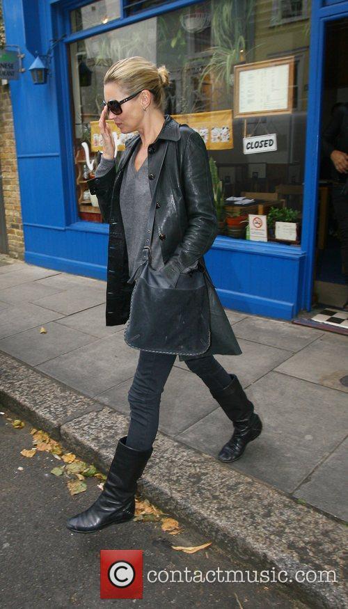 Kate Moss and husband Jamie Hince seen leaving...