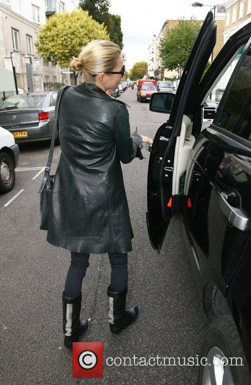 Kate Moss  seen leaving a restaurant in...