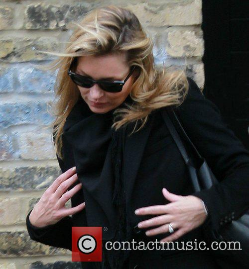 Kate Moss  leaving home London, England