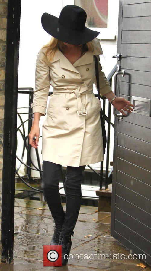 Kate Moss seen visits a Jewellery market and...