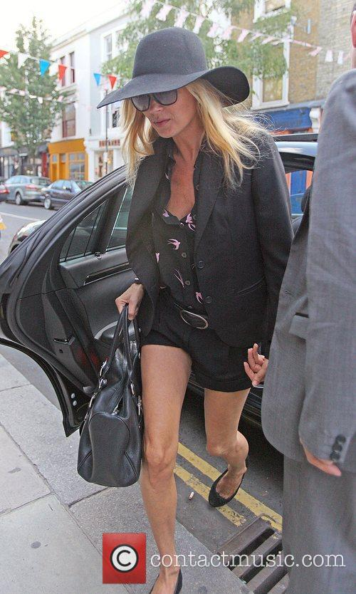Kate Moss shopping in west London London, England