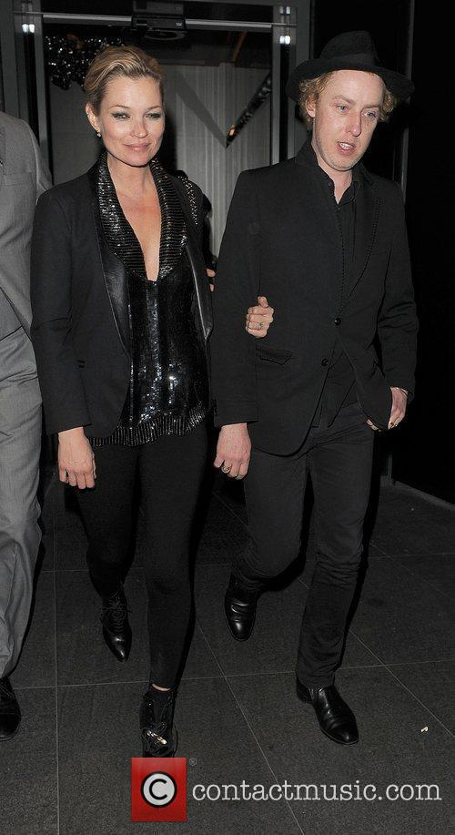 Kate Moss and James Brown leaving the W...