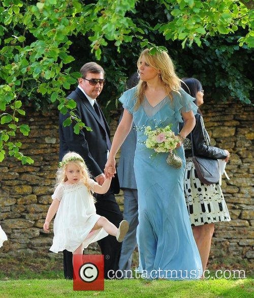 Bridesmaid and Flower Girl Kate Moss and Jamie...
