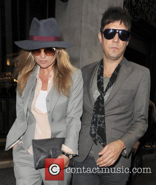 Newly engaged couple Kate Moss and Jamie Hince...