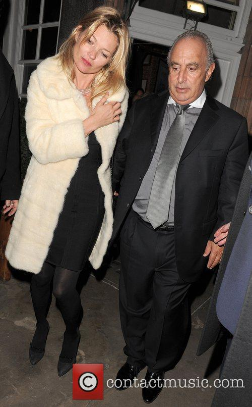 Kate Moss and Sir Phillip Green leaving Harry's...