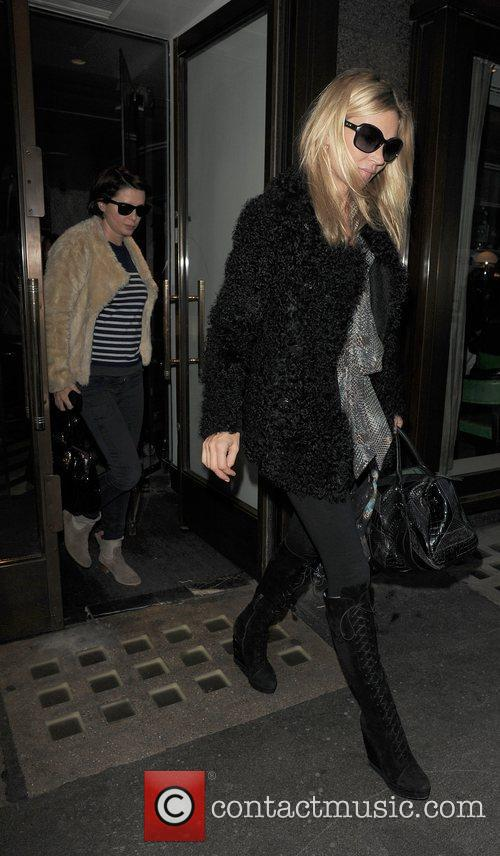 Kate Moss and Sadie Frost leaving Cecconi restaurant....