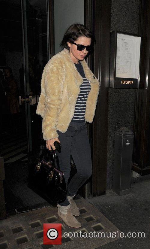 Sadie Frost leaving Cecconi restaurant. London, England