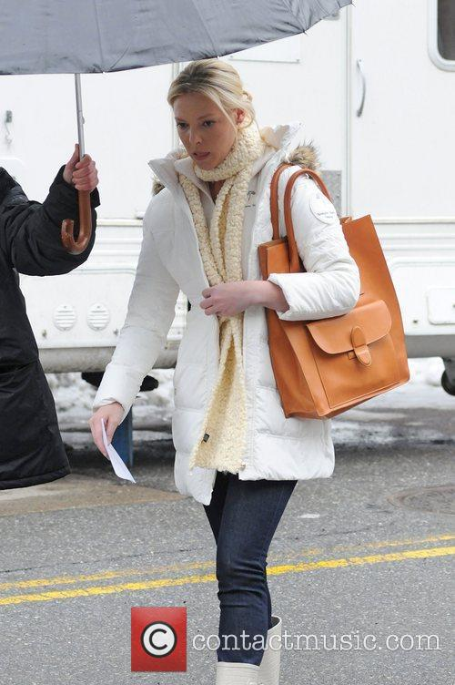 Katherine Heigl on the set of New Year's...