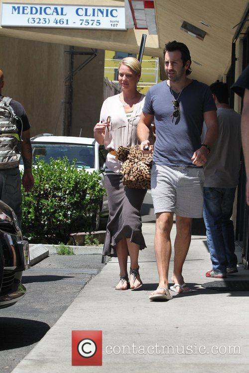 Katherine Heigl and Josh Kelley leaving a Sushi...