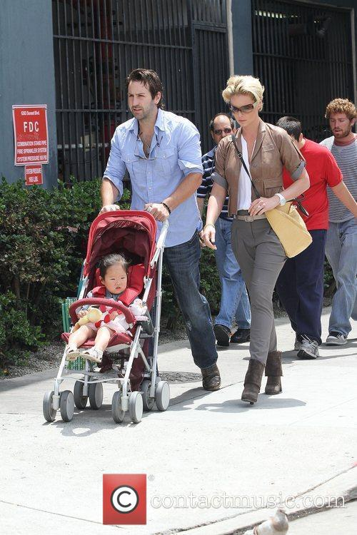 Katherine Heigl and husband singer Josh Kelley shopping...