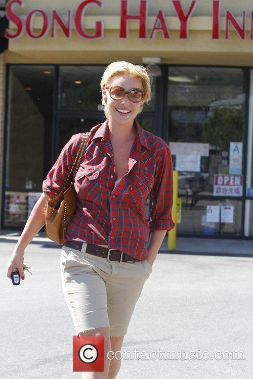 Katherine Heigl is seen leaving a nail salon...