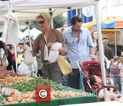 Katherine Heigl and husband singer Josh Kelley shopping...