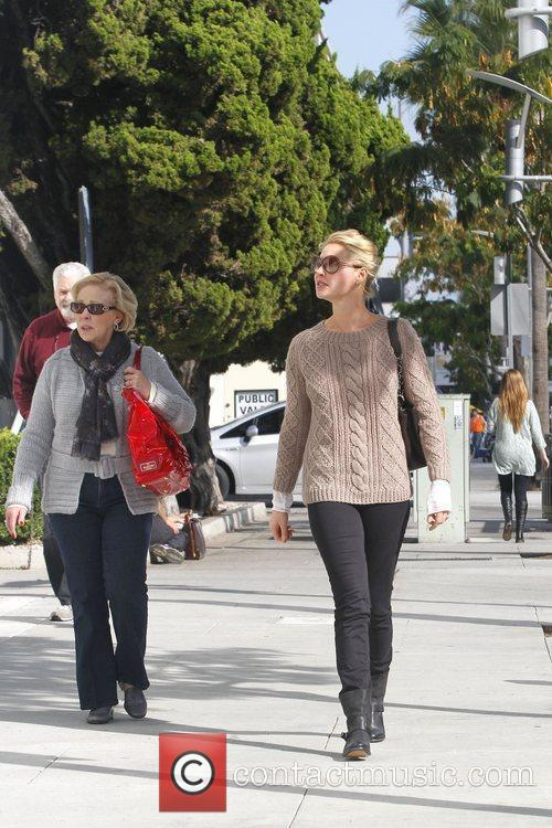 Katherine Heigl and her parents are seen shopping...