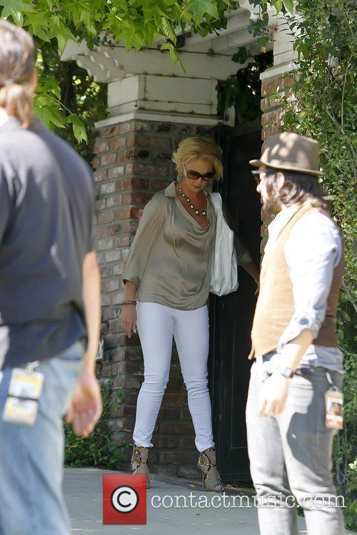 Katherine Heigl leaving a private residence with her...
