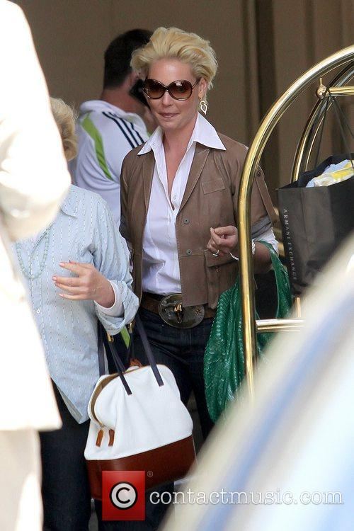 Katherine Heigl  leaving the Beverly Wilshire Hotel...
