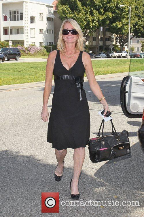 Kim Richards arrives at the birthday party of...
