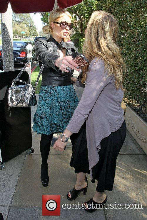 Paris Hilton and Brooke Mueller hugging goodbye Celebrities...
