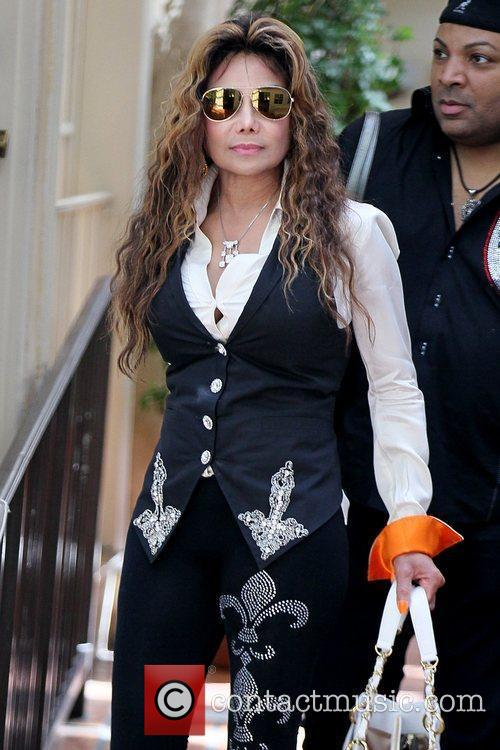 La Toya Jackson Celebrities depart Il Cielo in...