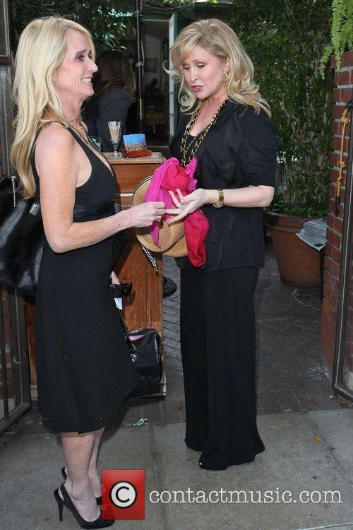 Kim Richards and Kathy Hilton Celebrities depart Il...