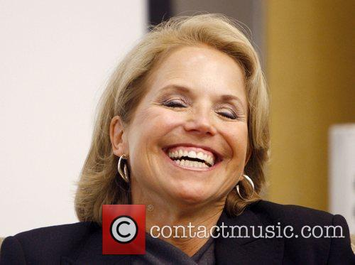 Katie Couric anchor of CBS Evening News, participates...