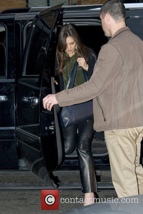 Katie Holmes arrives back at her Manhattan residence...