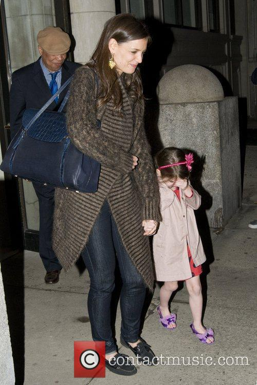 Katie Holmes and Suri Cruise Katie Holmes leaves...
