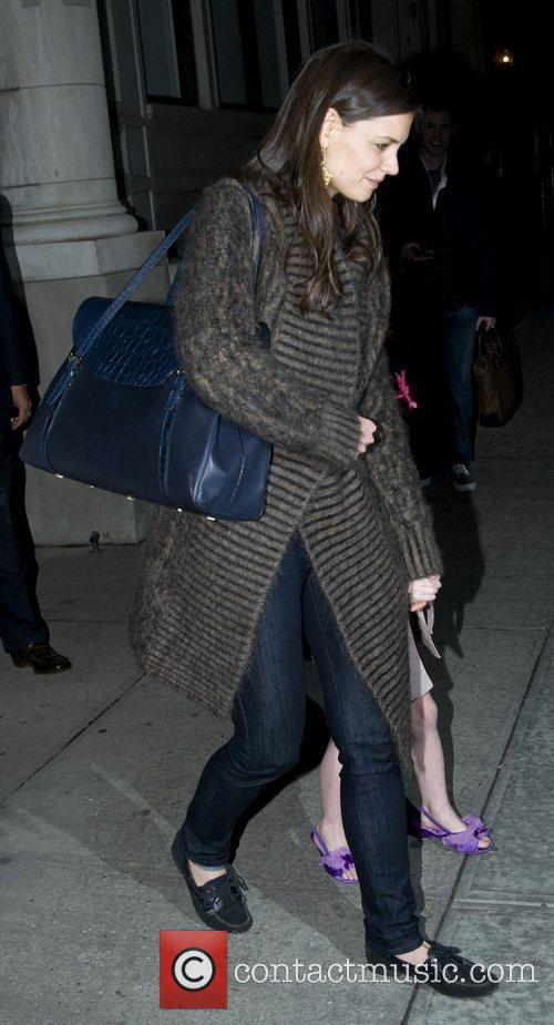 Katie Holmes  leaves her Manhattan residence to...