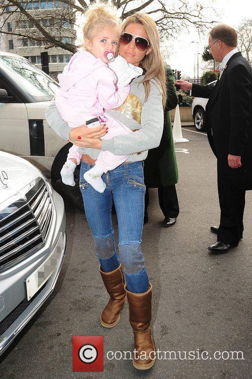 Katie Price and her daughter Princess Tiaamii...
