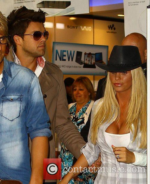 Leandro Penna and Katie Price Katie Price launches...