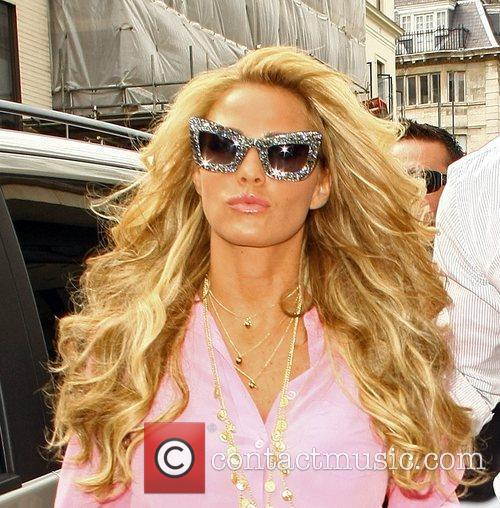 Katie Price and Leandro Penna out shopping in...