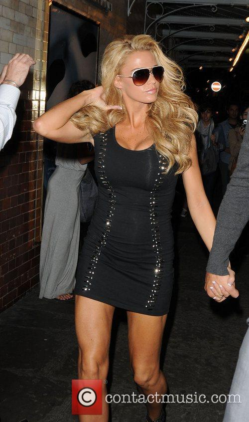 Katie Price leaving Funky Buddah club after filming...